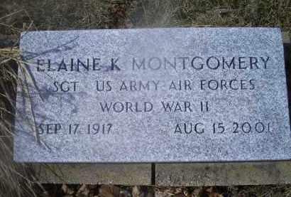 MONTGOMERY, ELAINE K. - Ross County, Ohio | ELAINE K. MONTGOMERY - Ohio Gravestone Photos