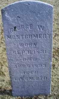 MONTGOMERY, GEORGE W. - Ross County, Ohio | GEORGE W. MONTGOMERY - Ohio Gravestone Photos