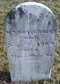 MONTGOMERY, WM. - Ross County, Ohio   WM. MONTGOMERY - Ohio Gravestone Photos
