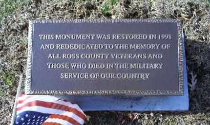 MONUMENT, CIVIL WAR - Ross County, Ohio | CIVIL WAR MONUMENT - Ohio Gravestone Photos
