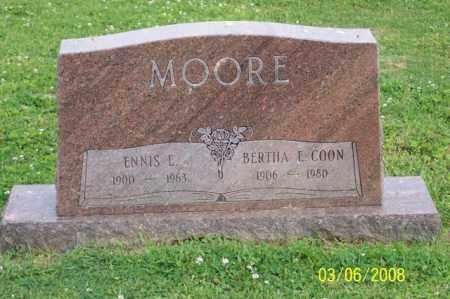 COON MOORE, BERTHA E. - Ross County, Ohio | BERTHA E. COON MOORE - Ohio Gravestone Photos
