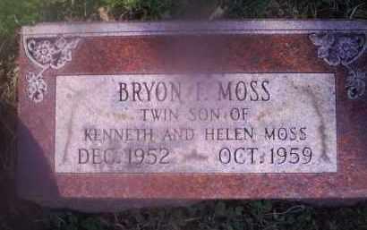 MOSS, BRYON L. - Ross County, Ohio | BRYON L. MOSS - Ohio Gravestone Photos