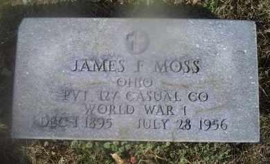 MOSS, JAMES F. - Ross County, Ohio | JAMES F. MOSS - Ohio Gravestone Photos
