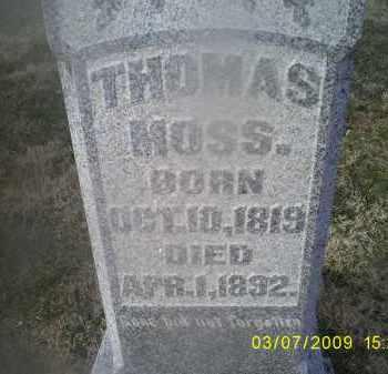 MOSS, THOMAS - Ross County, Ohio   THOMAS MOSS - Ohio Gravestone Photos