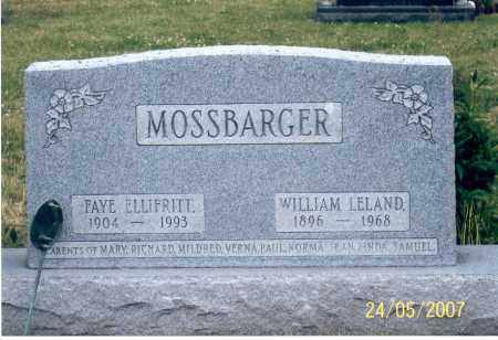 MOSSBARGER, FAYE - Ross County, Ohio | FAYE MOSSBARGER - Ohio Gravestone Photos