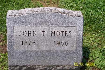 MOTES, JOHN T. - Ross County, Ohio | JOHN T. MOTES - Ohio Gravestone Photos
