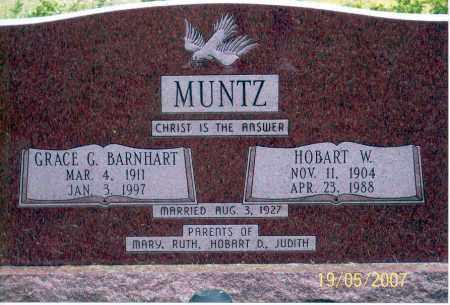 MUNTZ, HOBART W. - Ross County, Ohio | HOBART W. MUNTZ - Ohio Gravestone Photos
