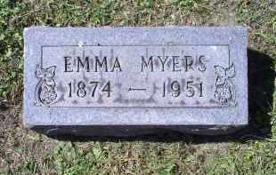 MYERS, EMMA - Ross County, Ohio   EMMA MYERS - Ohio Gravestone Photos