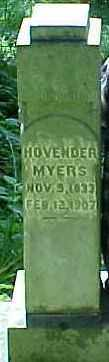 MYERS, HOVENDER - Ross County, Ohio | HOVENDER MYERS - Ohio Gravestone Photos