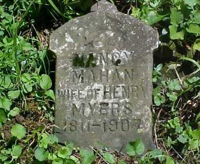 MAHAN MYERS, NANCY - Ross County, Ohio | NANCY MAHAN MYERS - Ohio Gravestone Photos