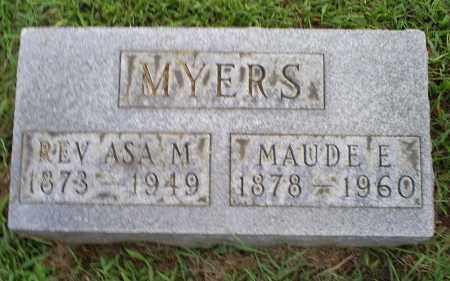 MYERS, REV. ASA M. - Ross County, Ohio | REV. ASA M. MYERS - Ohio Gravestone Photos