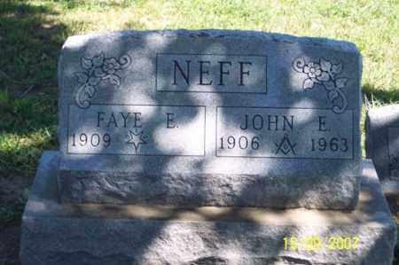 NEFF, JOHN E. - Ross County, Ohio | JOHN E. NEFF - Ohio Gravestone Photos