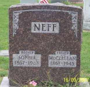 NEFF, MCCLELLAN - Ross County, Ohio | MCCLELLAN NEFF - Ohio Gravestone Photos