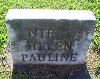 NIECE, HELEN PAULINE - Ross County, Ohio | HELEN PAULINE NIECE - Ohio Gravestone Photos