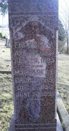 OVERLY, FRANCIS - Ross County, Ohio | FRANCIS OVERLY - Ohio Gravestone Photos