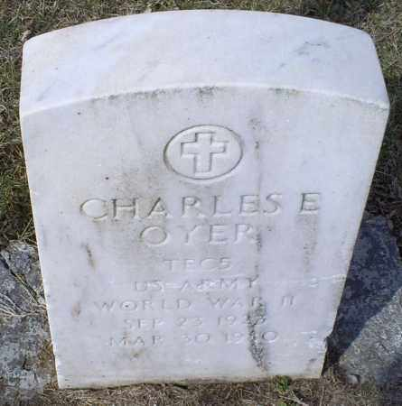 OYER, CHARLES E. - Ross County, Ohio   CHARLES E. OYER - Ohio Gravestone Photos