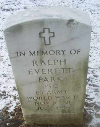 PARK, RALPH EVERETT - Ross County, Ohio | RALPH EVERETT PARK - Ohio Gravestone Photos