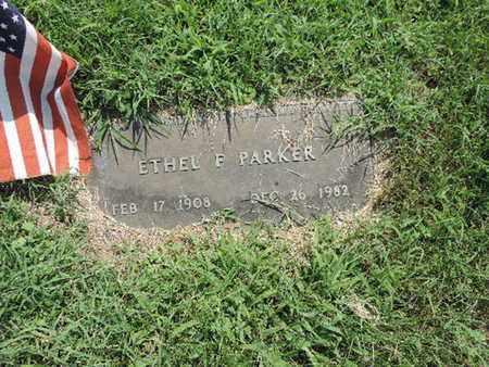 PARKER, ETHEL F - Ross County, Ohio | ETHEL F PARKER - Ohio Gravestone Photos