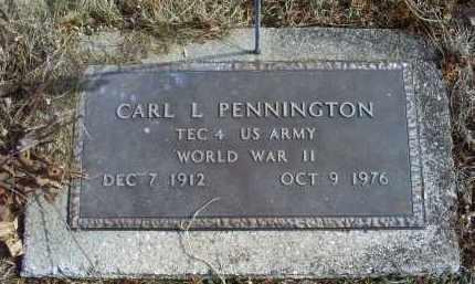 PENNINGTON, CARL L. - Ross County, Ohio   CARL L. PENNINGTON - Ohio Gravestone Photos