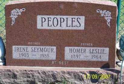 PEOPLES, HOMER LESLIE - Ross County, Ohio | HOMER LESLIE PEOPLES - Ohio Gravestone Photos