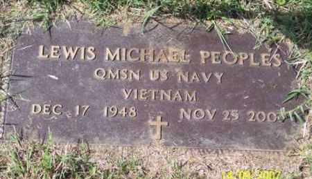 PEOPLES, LEWIS MICHAEL - Ross County, Ohio | LEWIS MICHAEL PEOPLES - Ohio Gravestone Photos