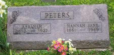 PETERS, HANNAH JANE - Ross County, Ohio | HANNAH JANE PETERS - Ohio Gravestone Photos