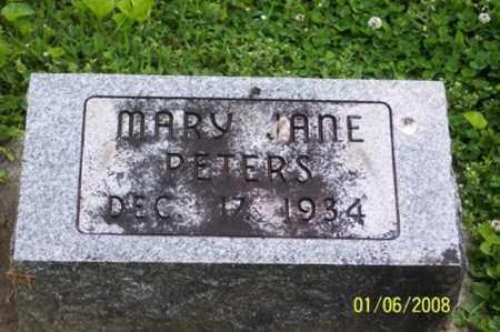 PETERS, MARY JANE - Ross County, Ohio | MARY JANE PETERS - Ohio Gravestone Photos