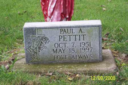 PETTIT, PAUL A. - Ross County, Ohio | PAUL A. PETTIT - Ohio Gravestone Photos