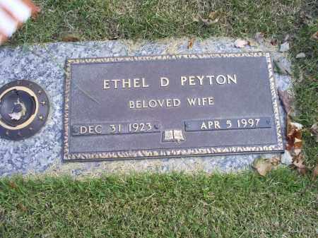 PEYTON, ETHEL D. - Ross County, Ohio | ETHEL D. PEYTON - Ohio Gravestone Photos