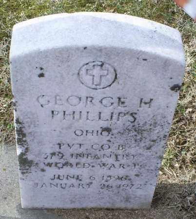 PHILLIPS, GEORGE H. - Ross County, Ohio | GEORGE H. PHILLIPS - Ohio Gravestone Photos