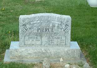 PIERCE, EDGAR L - Ross County, Ohio | EDGAR L PIERCE - Ohio Gravestone Photos