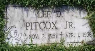 PITCOX, LEE D. JR. - Ross County, Ohio | LEE D. JR. PITCOX - Ohio Gravestone Photos
