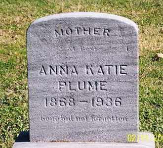 PLUME, ANNA KATIE - Ross County, Ohio | ANNA KATIE PLUME - Ohio Gravestone Photos