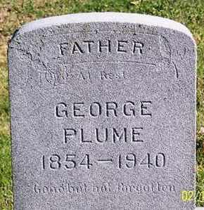 PLUME, GEORGE - Ross County, Ohio | GEORGE PLUME - Ohio Gravestone Photos