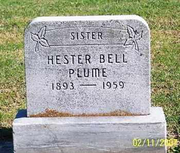 PLUME, HESTER BELL - Ross County, Ohio | HESTER BELL PLUME - Ohio Gravestone Photos