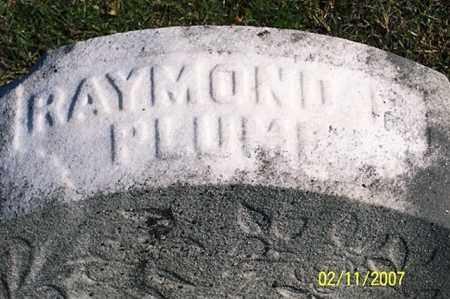 PLUMM, RAYMOND - Ross County, Ohio | RAYMOND PLUMM - Ohio Gravestone Photos