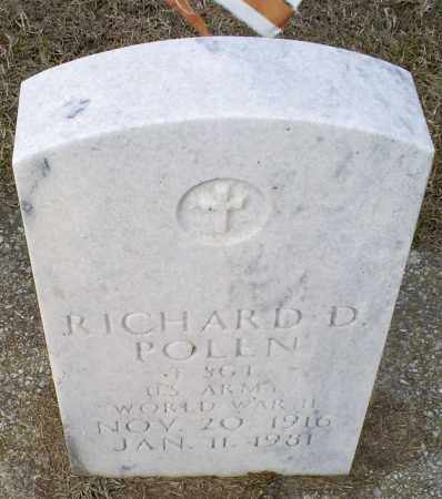 POLEN, RICHARD D. - Ross County, Ohio | RICHARD D. POLEN - Ohio Gravestone Photos
