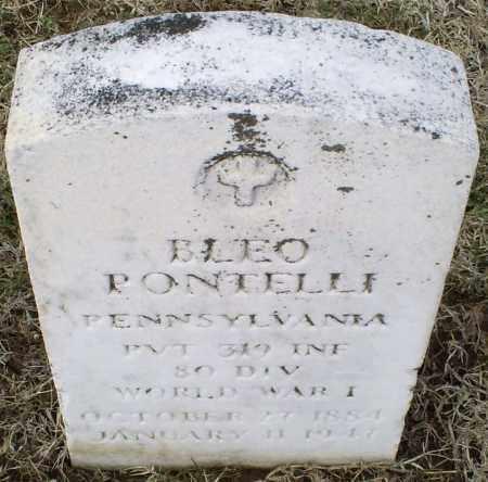 PONTELLI, BLEO - Ross County, Ohio | BLEO PONTELLI - Ohio Gravestone Photos