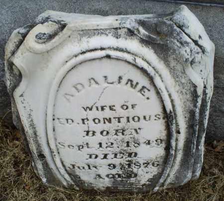 PONTIOUS, ADALINE - Ross County, Ohio   ADALINE PONTIOUS - Ohio Gravestone Photos