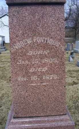 PONTIOUS, ANDREW SR. - Ross County, Ohio | ANDREW SR. PONTIOUS - Ohio Gravestone Photos