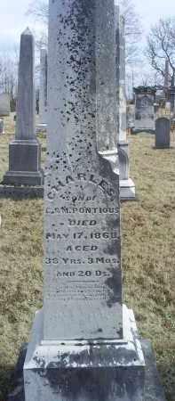 PONTIOUS, CHARLES - Ross County, Ohio   CHARLES PONTIOUS - Ohio Gravestone Photos