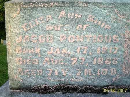 PONTIOUS, ELIZA ANN - Ross County, Ohio | ELIZA ANN PONTIOUS - Ohio Gravestone Photos