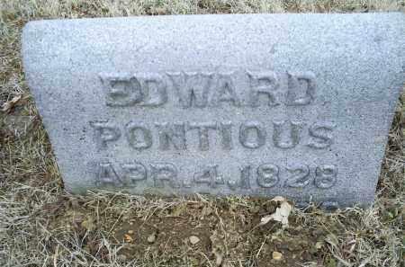 PONTIOUS, EDWARD - Ross County, Ohio   EDWARD PONTIOUS - Ohio Gravestone Photos