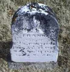 PONTIOUS, FRANK - Ross County, Ohio | FRANK PONTIOUS - Ohio Gravestone Photos