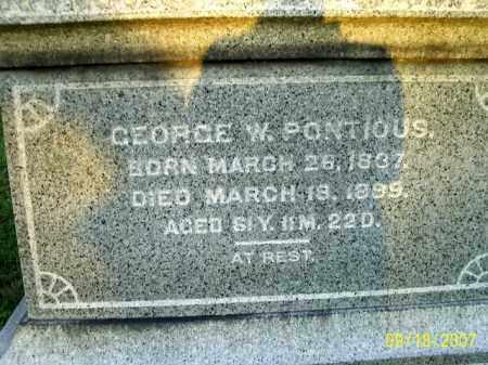 PONTIOUS, GEORGE W - Ross County, Ohio | GEORGE W PONTIOUS - Ohio Gravestone Photos