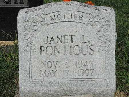 PONTIOUS, JANET L - Ross County, Ohio | JANET L PONTIOUS - Ohio Gravestone Photos