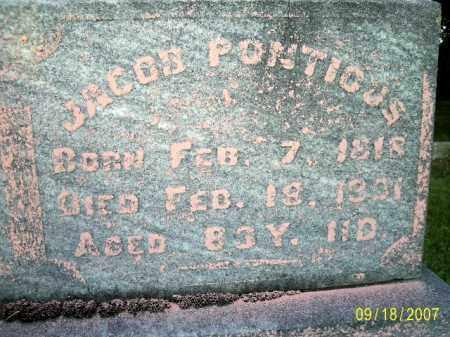 PONTIOUS, JACOB - Ross County, Ohio | JACOB PONTIOUS - Ohio Gravestone Photos