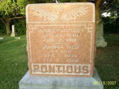 REID PONTIOUS, JOANNA - Ross County, Ohio | JOANNA REID PONTIOUS - Ohio Gravestone Photos