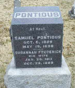PONTIOUS, SUSANNAH - Ross County, Ohio | SUSANNAH PONTIOUS - Ohio Gravestone Photos