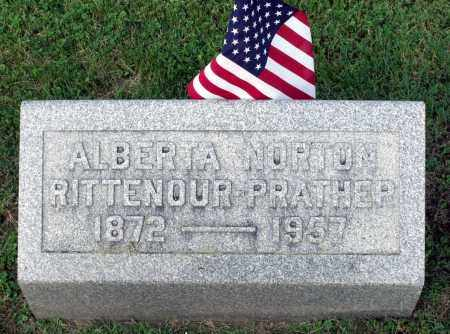 RITTENOUR PRATHER, ALBERTA NORTON - Ross County, Ohio | ALBERTA NORTON RITTENOUR PRATHER - Ohio Gravestone Photos